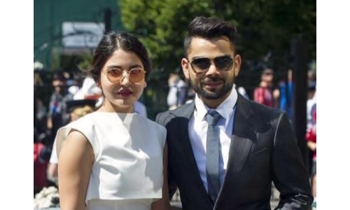 Virat Kohli tweeted that the presence of his wife Anushka Sharma had made the award-winning evening even better.