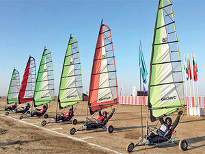 Indian Army Personnel set out on Land Yachting Expedition