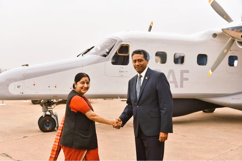 India Gifts Seychelles Dornier Aircraft Agreement On Naval Base Project