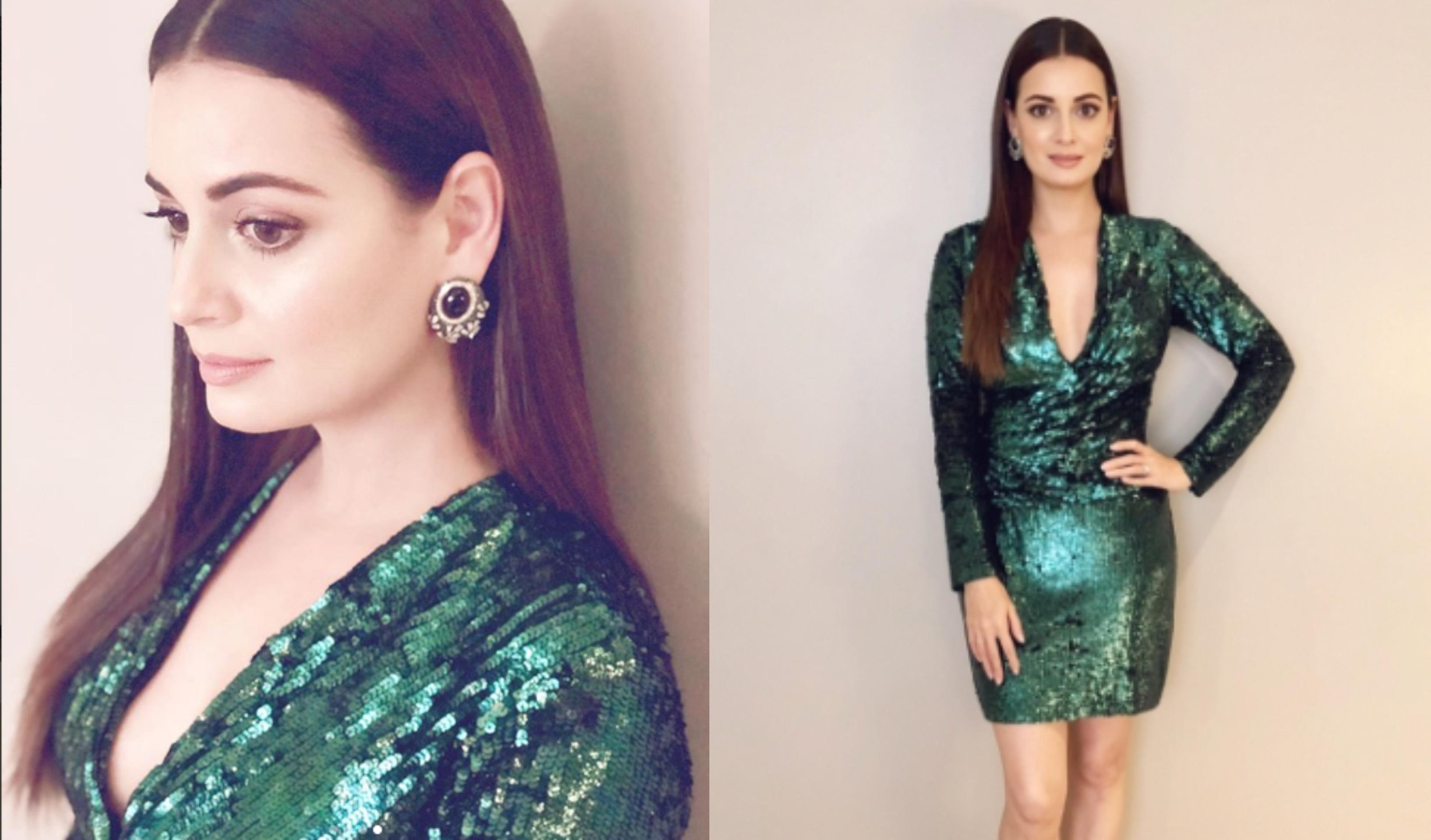 IIFA 2018- Dia Mirza speaks about reducing the use of plastic while wearing a gown of plastic