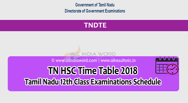 Check online Tamil Nadu Class 12th Board exam result for 2018
